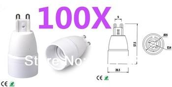 100pcs G9 to E14 LED socket adapter Led Light Lamp Bulb Holder converter Free Shipping With Tracking No.