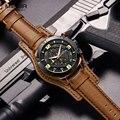 Мужские спортивные часы MEGIR  брендовые роскошные кожаные кварцевые часы с автоматической датой  армейские водонепроницаемые наручные часы ...