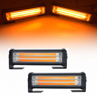 40W COB Car Truck Front Grille LED Strobe Flash Warning Light Bar 8 Modes Change Styling Fireman Police Emergency Work Fog Lamp