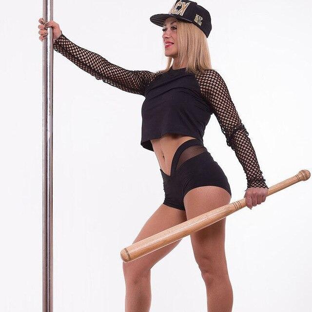 Γυναικεία Αθλητικά Σορτς Πολυεστέρας Δερμάτινη Ελαστική Μέση Υψηλής Ποιότητας