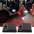 newest 1 Pair Led Car Door Logo White Skeleton Shadow Welcome Light Original Door Light Replace Laser Lamp Projector Lamp