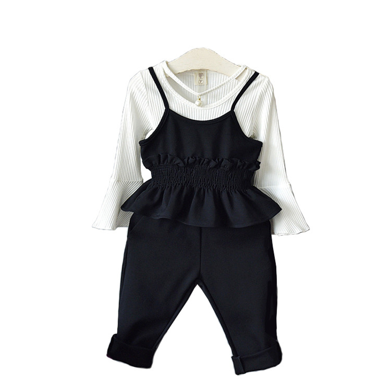 High quality 2017 fashion spring autumn kid suit children clothing baby girl clothing set sweater+vest+pant 3 pcs 2-7 years free shipping new arrival winter fashion children clothing set leisure 100% sweater pants vest girl suit