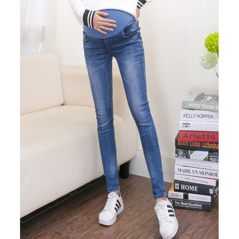 2963e9385 Stretch Skinny Jeans For Pregnant Women Denim Trousers Nursing Maternity  Clothes Elastic Waist Pregnancy Pants Autumn Clothing-in Jeans from Mother    Kids ...