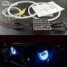 HochiTech WHITE 6000K CCFL Headlight Halo Angel Demon Eyes Kit angel eyes light for Jeep Liberty KJ 2000 01 02 03 04 05 06 2007