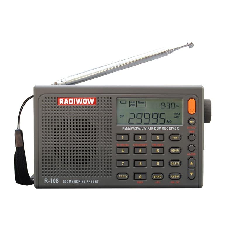 con Reproductor de MP3 Radio FM Pantalla LCD KKmoon Radio Digital de Bolsillo DAB Radio