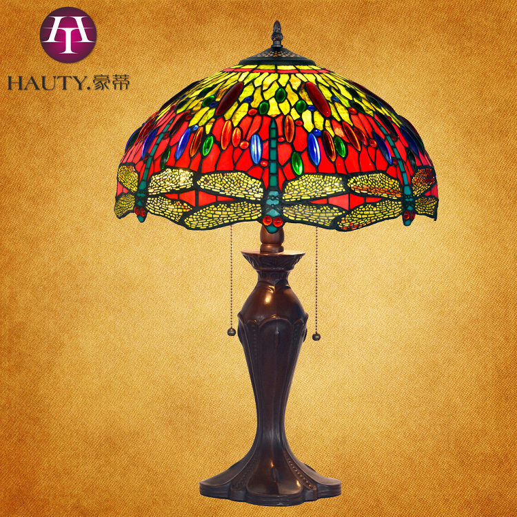 16 inch stained glass tiffany lamp shade handmade tin soldering 16 inch stained glass tiffany lamp shade handmade tin soldering making art dragonfly lake in led panel lights from lights lighting on aliexpress aloadofball Image collections