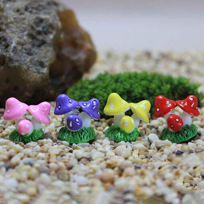 מיקרו נוף בונסאי צמח גינון גן אבזר תפאורה הימור קרפט 4 צבעים שרף מלאכות מיני מיניאטורי פטריות