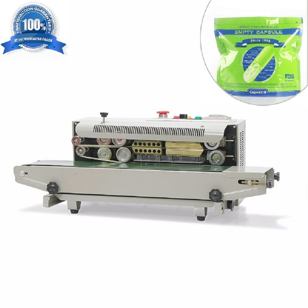 CapsulCN,Automatic Continuous Plastic Bag Sealing Machine with Coding Printer FR-900 (110V/60HZ) automatic continuous plastic film sealing machine for food cosmetic potato chips dbf 1000 110v 60hz