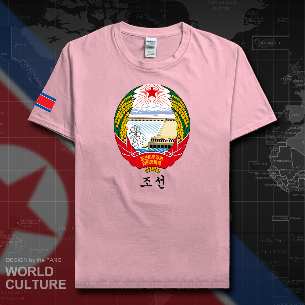 North Korea DPRK Korean men t shirt fashion jerseys nation team 100% cotton t-shirt clothes tees country sporting gyms KP PRK 20 image