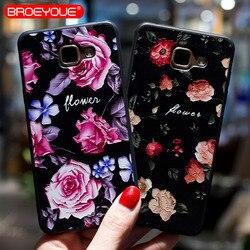 BROEYOUE чехол для samsung Galaxy A3 A5 A7 2016 2017 рельефный силиконовый чехол s для A3 A5 A7 2017 Ультратонкий матовый чехол для телефона s