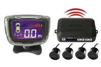 Wireless Car Parking Sensor with LCD display Backup Reverse Rear View Radar Alert Alarm System with 4 Sensors