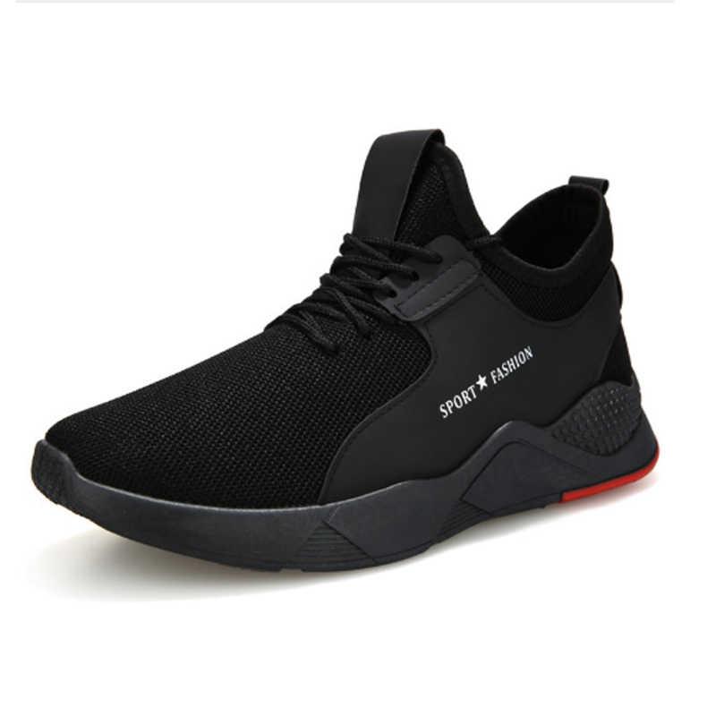 PUIMENTIUA 2019 Torridity Preto Vulcanize Sapatos Formadores Sneakers Malha Respirável Esportes Casuais Masculinos Dos Homens Lace-up Sapatos Rasos Mais