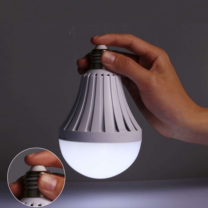 Smart LED Emergency Light Bulb E27 Rechargeable Led Energy Saving Lamps 5W 7W 9W 12W for Camping Fishing Household Outdoor Light energy efficient 7w e27 3014smd 72led corn bulbs led lamps