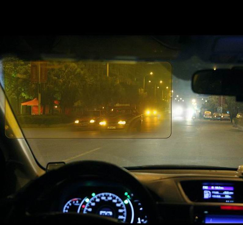 HD Vision Visor Day   Night Visor Easy View HD HD Day Night Vision Flip  Down Visor Easy Sun Glare Block View UV As Seen On TV-in Front Window from  ... 68c85e0afb0