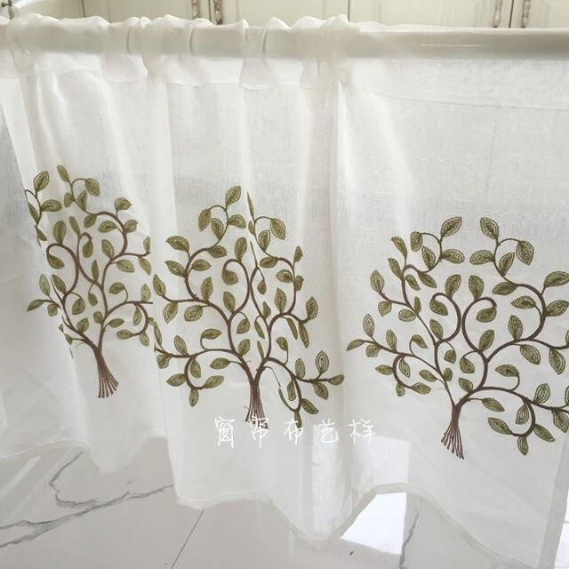Vorhang Kinderzimmer E | Online Shop Halb Vorhang Heisser Verkauf Mode Kaffee Vorhang Baum