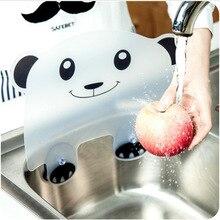 Kitchen Artifact Panda Sucker Flap Sink Splash Water Impermeable Retaining Plate