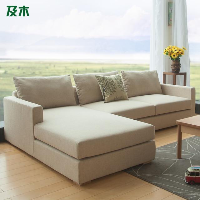 en houten meubilair, linnen stoffen zitbank moderne ...