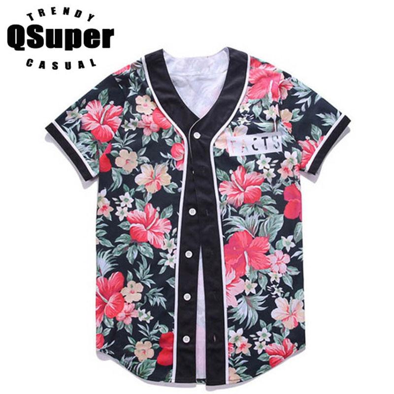 Floral Print Shirts Men