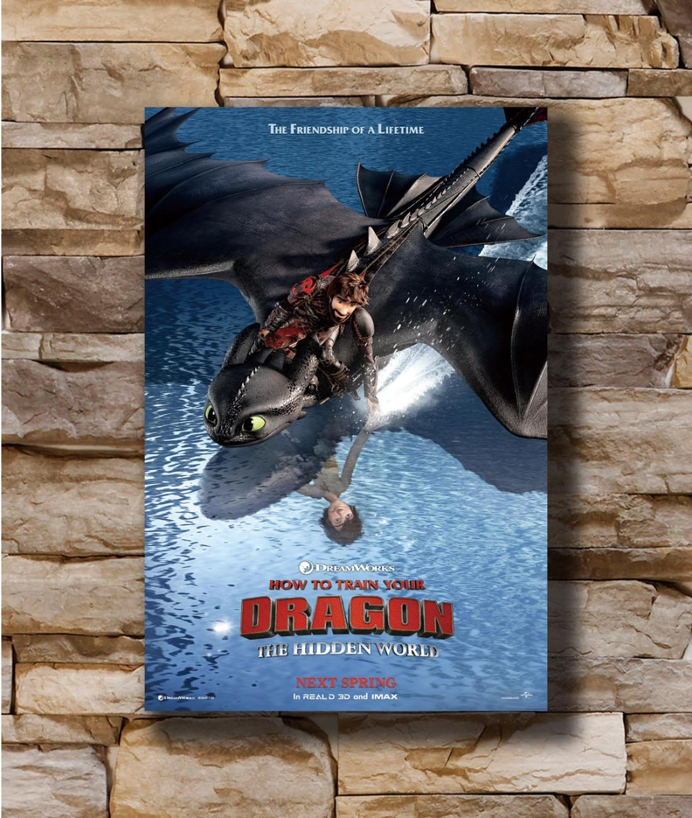 How To Train Your Dragon 3 The Hidden World Movie Poster 24x36 Art Film Print