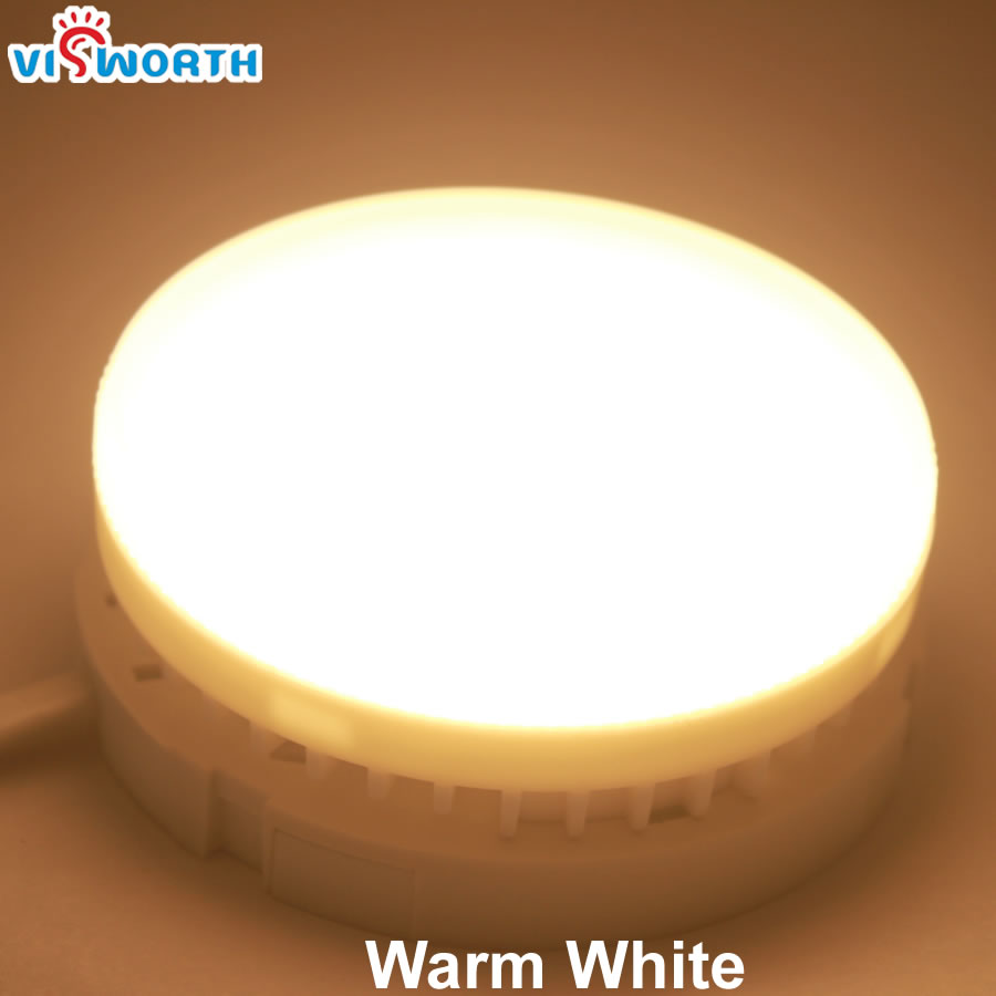 6 Piece/Lot GX53 Led Lamp 5W Frosted PC Cover Cabinet Light 3000/6000K Led Bulb Ac 110V 220V Led Wardrobe Lamp for Livingroom