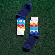 Pure Cotton Men Gradient Color Socks