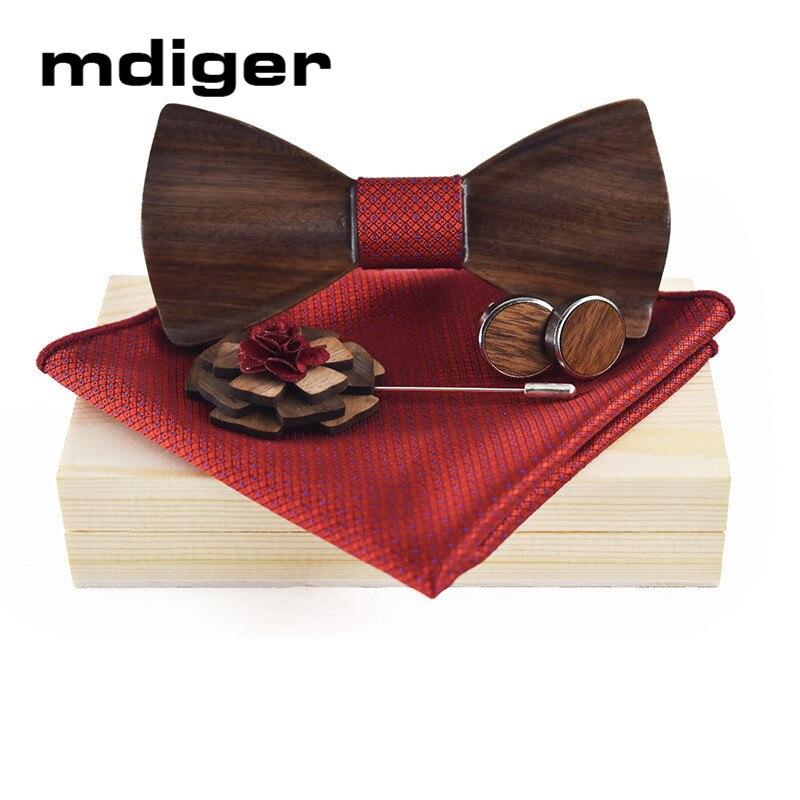 Mdiger En Bois Arc Liens Boutons De Manchette Mouchoirs Cravate Clip Meilleur Cadeau Ensemble Pour Hommes Cravate Chemise De Mariage Bijoux
