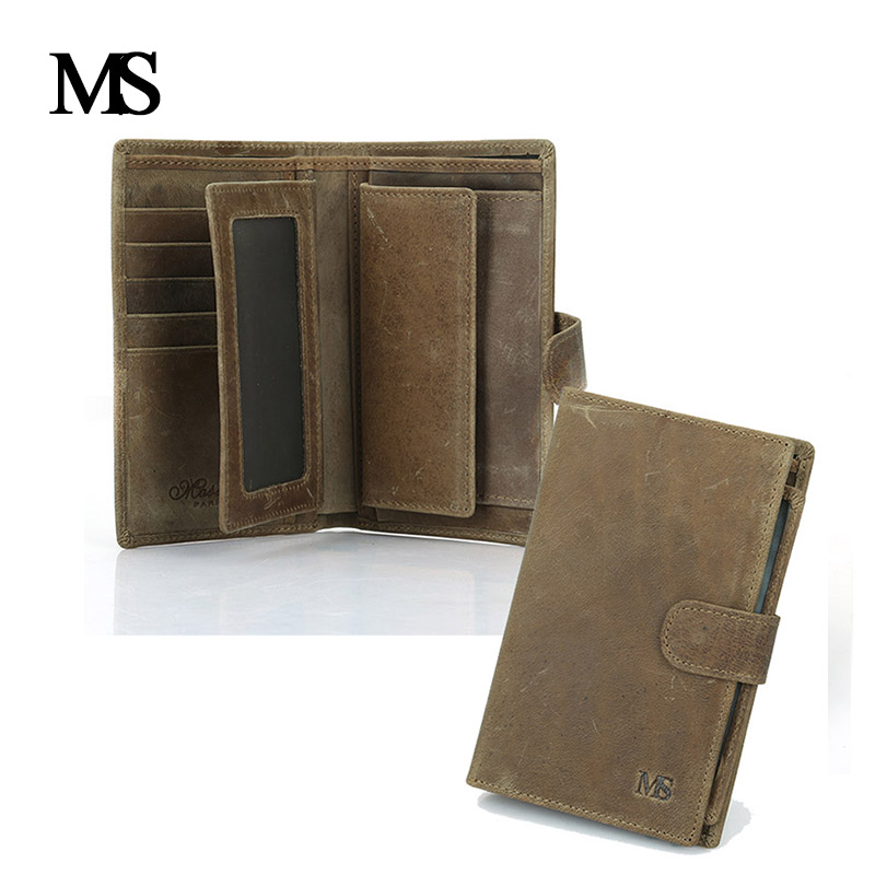 Crazy Horse Leather Men Organizer Wallets Genuine Leather Men's Vintage Purses Retro Clutch Cowhide Male Wallet Brand Coin Purse  stabila 183 см тип 196 2
