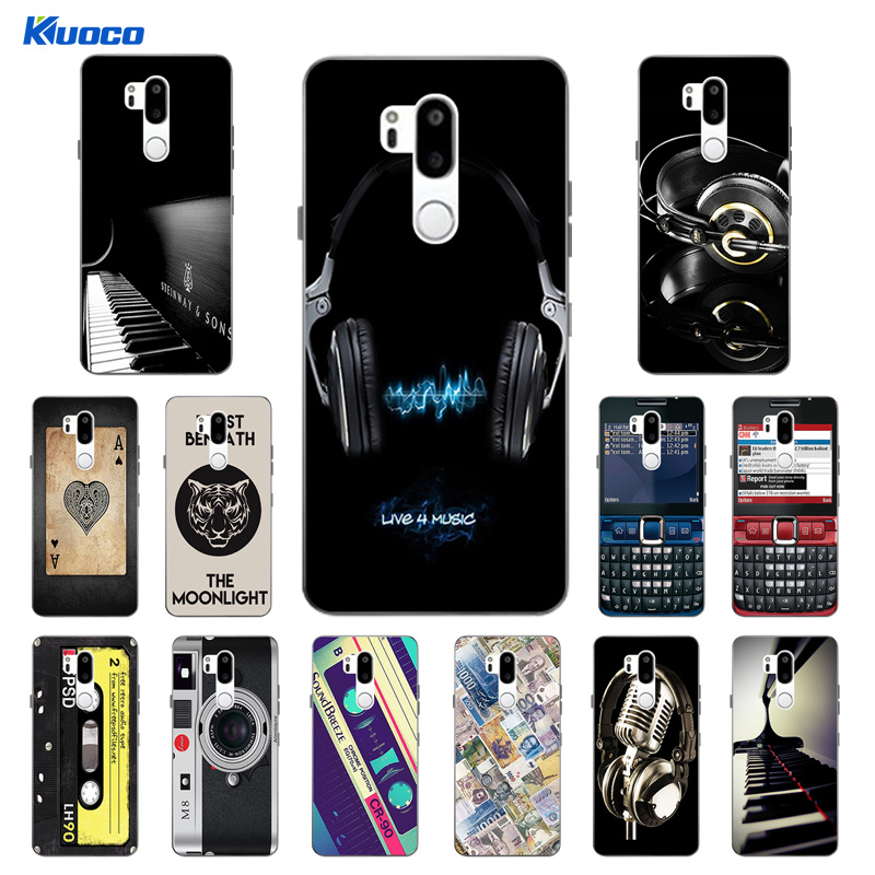 78698686e8d 6.1 inch for LG G7 Soft Slim TPU Phone Cases for LG G7 ThinQ Clear Silicone  Gel Back Covers for LG G710 Life Printing Coque