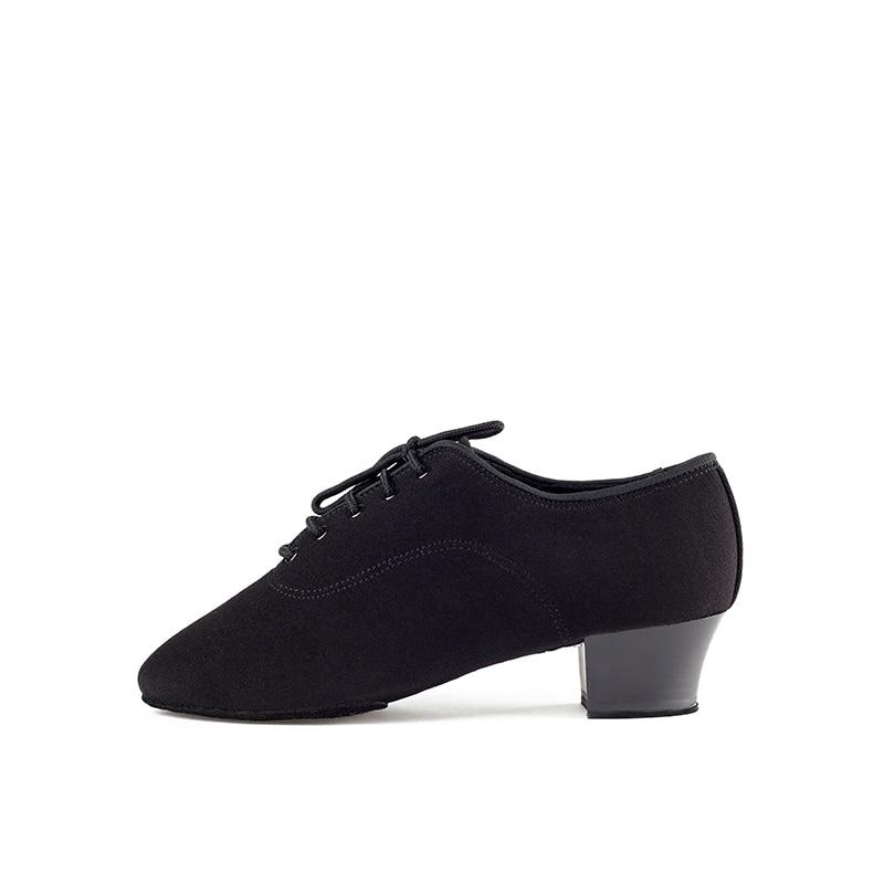 Image 2 - Genuine BD Men shoes Latin Dance Shoes Adult two point Soles Teacher Shoes Soft base Dance shoes male 417 Oxford Cloth Heel 4.5-in Dance shoes from Sports & Entertainment on AliExpress