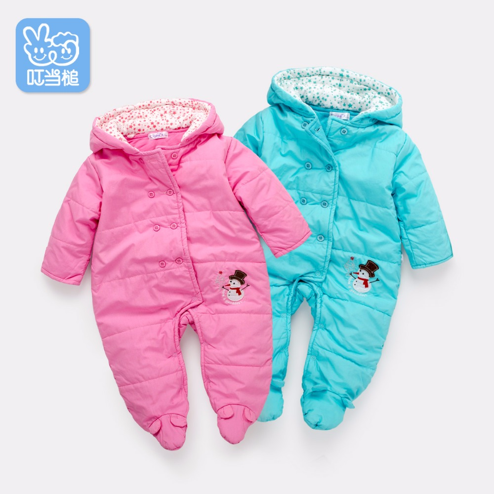 Dinstry Baby Boys & Girls Warm Clothes, tykk bomullsbelagt frakk, Baby Outerwear Jumpsuit