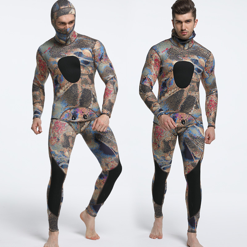 3mm Diving Suit Long Sleeve Mergulho Full Body Warmth Sunblock Surf Wetsuit with Headgear Men s