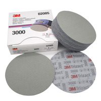 6 дюймов 152 мм сухая влажная губка наждачная бумага диск назад бархат 3000 5000 Грит абразивные инструменты для шлифования 3M02085