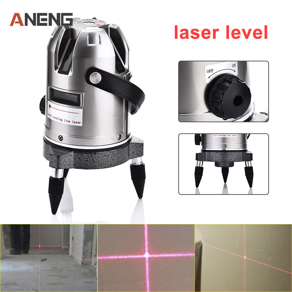 5 Lines Level 110 Degrees Rotary 635nm Outdoor Mode - Receiver And Tilt Slash Available Auto 5 Line Laser Level цены