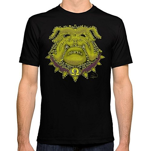 Camisetas divertidas hombres nuevo estilo omega psi phi equipada o-cuello corto-manga de la camiseta