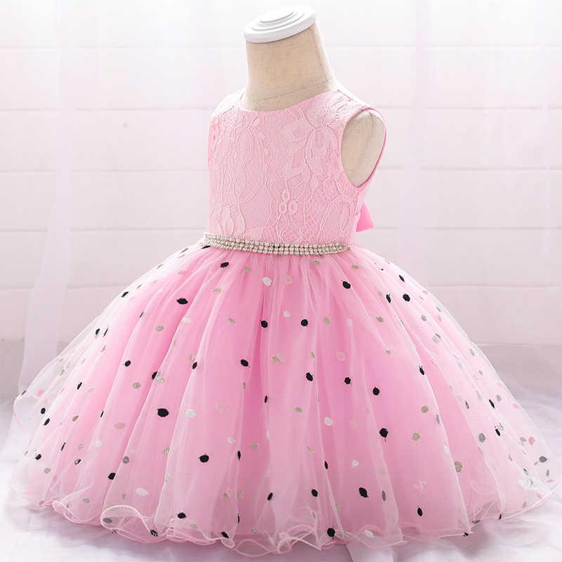 a3c7888cd ... 2019 Newborn Christening Dress For Baby Girl Dress Frocks Summer Baptism  Dress Flower First 1st Birthday