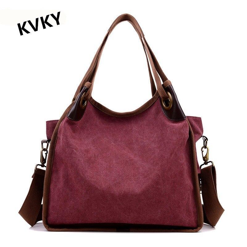 KVKY Women Tote Handbag 2017 New Style Fashion Female Shopping Casual Canvas Shoulder Bags Large Capacity Crossbody Bag CH081 цена 2016