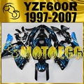 Motoegg ABS Fairings For YAMAHA YZF 600R 1997-2007 Thundercat Blue Flames Y60M17 Motorcycle ABS plastic