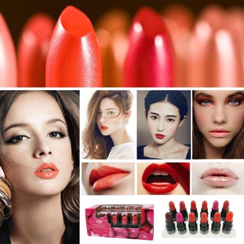 12Pcs Women Liquid Lipstick Batom Lip Kit Set Rouge A Levre Matte Makeup Lip Balm Mini Lip Gloss Long Lasting Waterproof Bright 2