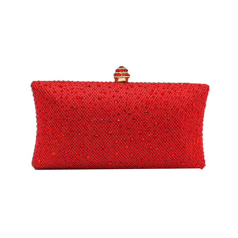 Shoulder Bags with Beautiful Pure Color , Evening Bag of The Shape of Pillow, Versatile and Noble Chain Bag with Shinny Sequins