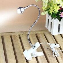 5V USB Rechargable Flexible Eye-care Adjustable LED Light Clip-on Clamp Beside Table Desk Lamp For Laptop Book Reading Lighting