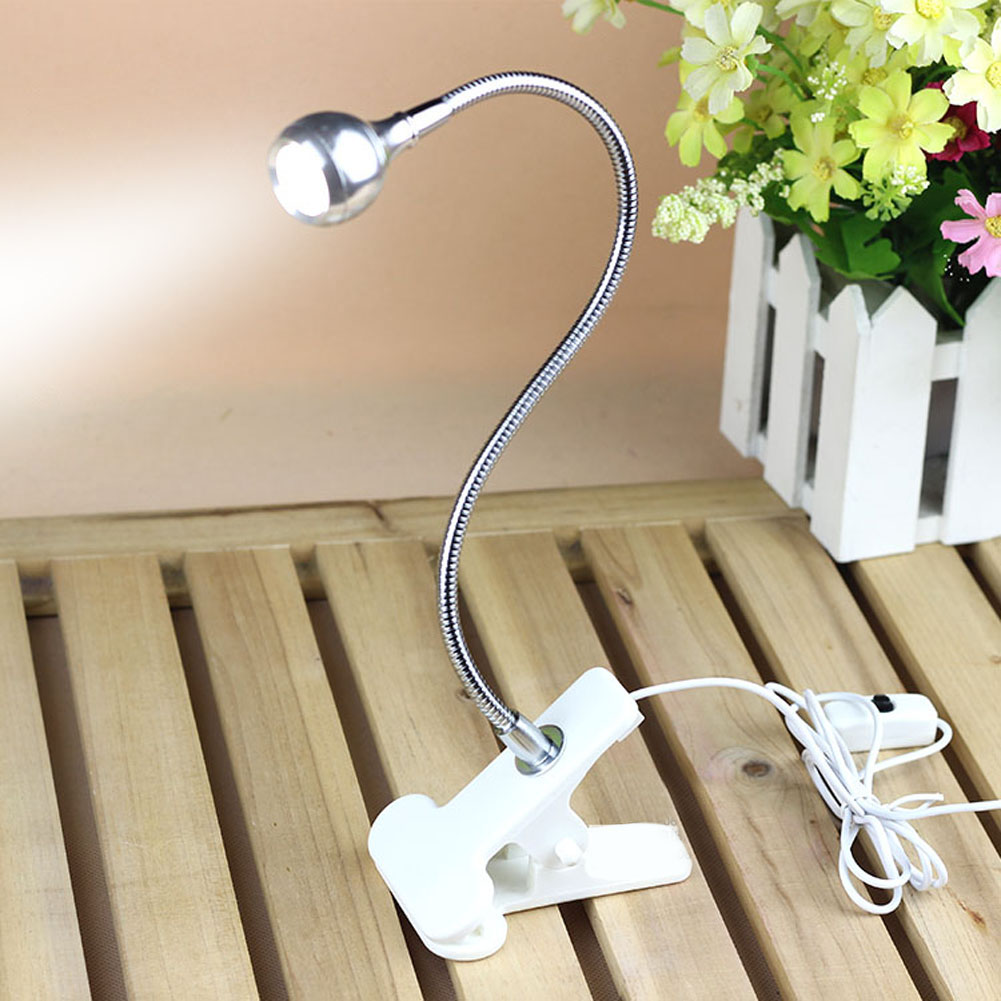Flexible USB 13 LED Light Clip-on Clamp Beside Bed Table Study Desk Reading Lamp