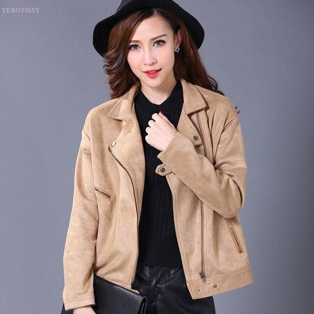Manteau court en daim femme