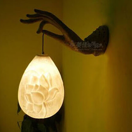 special buddhas hand design wall lamp hallway corridor lightchina mainland