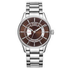 BUREI 5007 Suiza de relojes de lujo de los hombres cronómetro certificado oficialmente MIYOTA automático auto-viento brown acero inoxidable