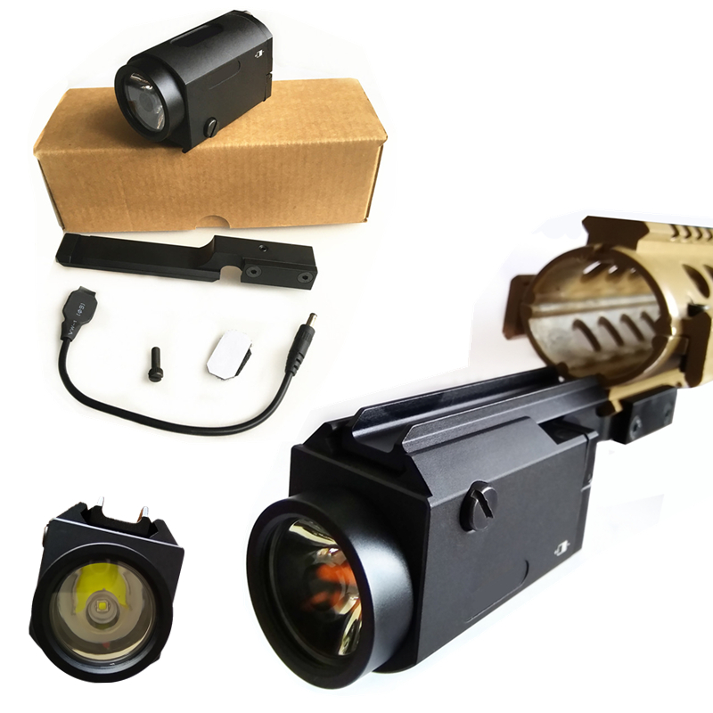 FIRECLUB White LED Tactical Gree T6 Flashlight 400 lumen Gun Light Come With Shown Mount