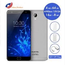 "OUKITEL K6000 Plus 4G 5,5 ""FHD Octa-core 4 GB + 64 GB 6080 mAh 12 V/2A QC Ladung 16MP Vorder Touch ID Smartphone silicon case neue telefon"