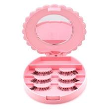 False Eyelash Storage Box Makeup Tools With Mirror Case Orga