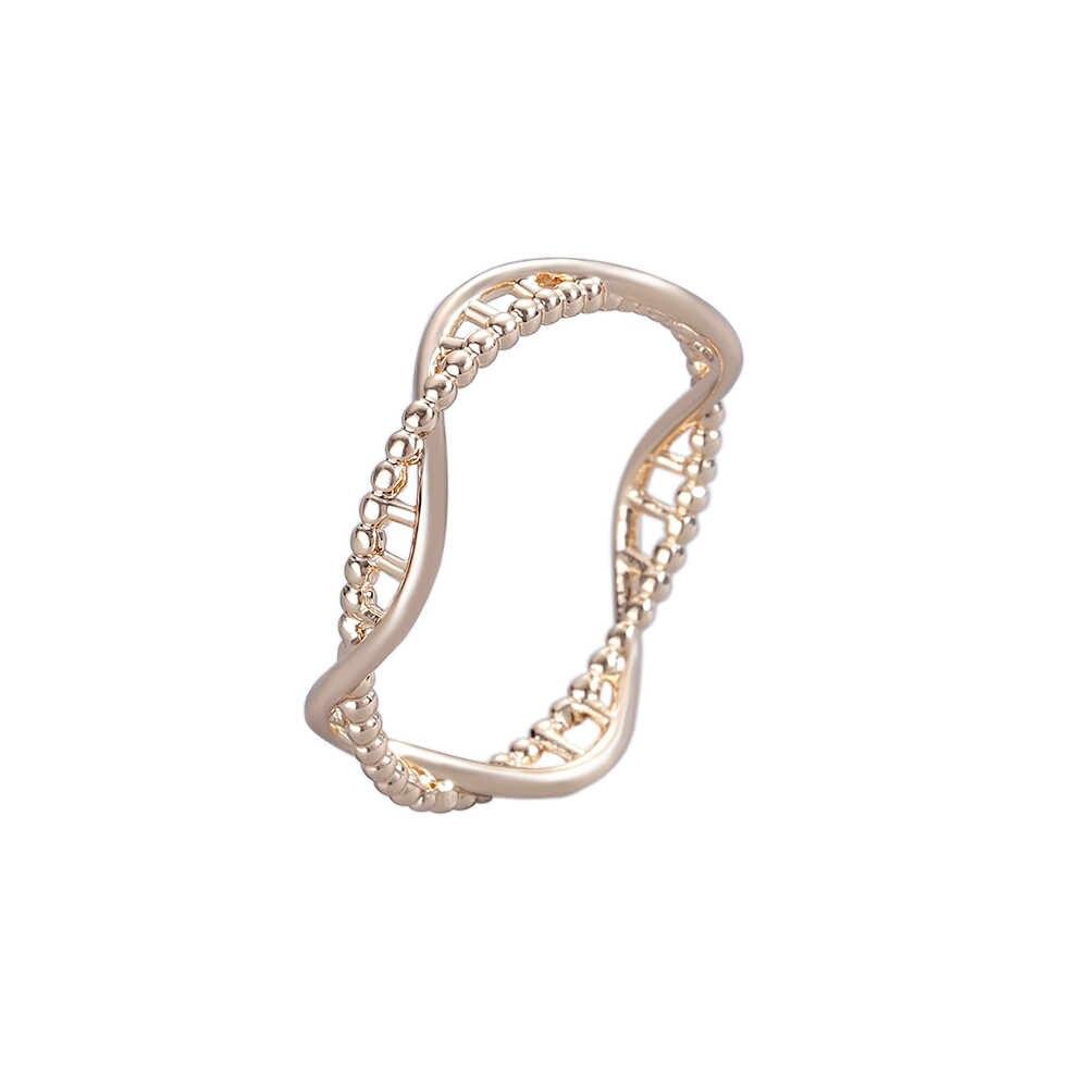 Anillos Todorova con Rna geométrica para hombres y mujeres, joyería de biología, anillos de molécula química, anillos de ciencia geométrica, anillos de banda de boda