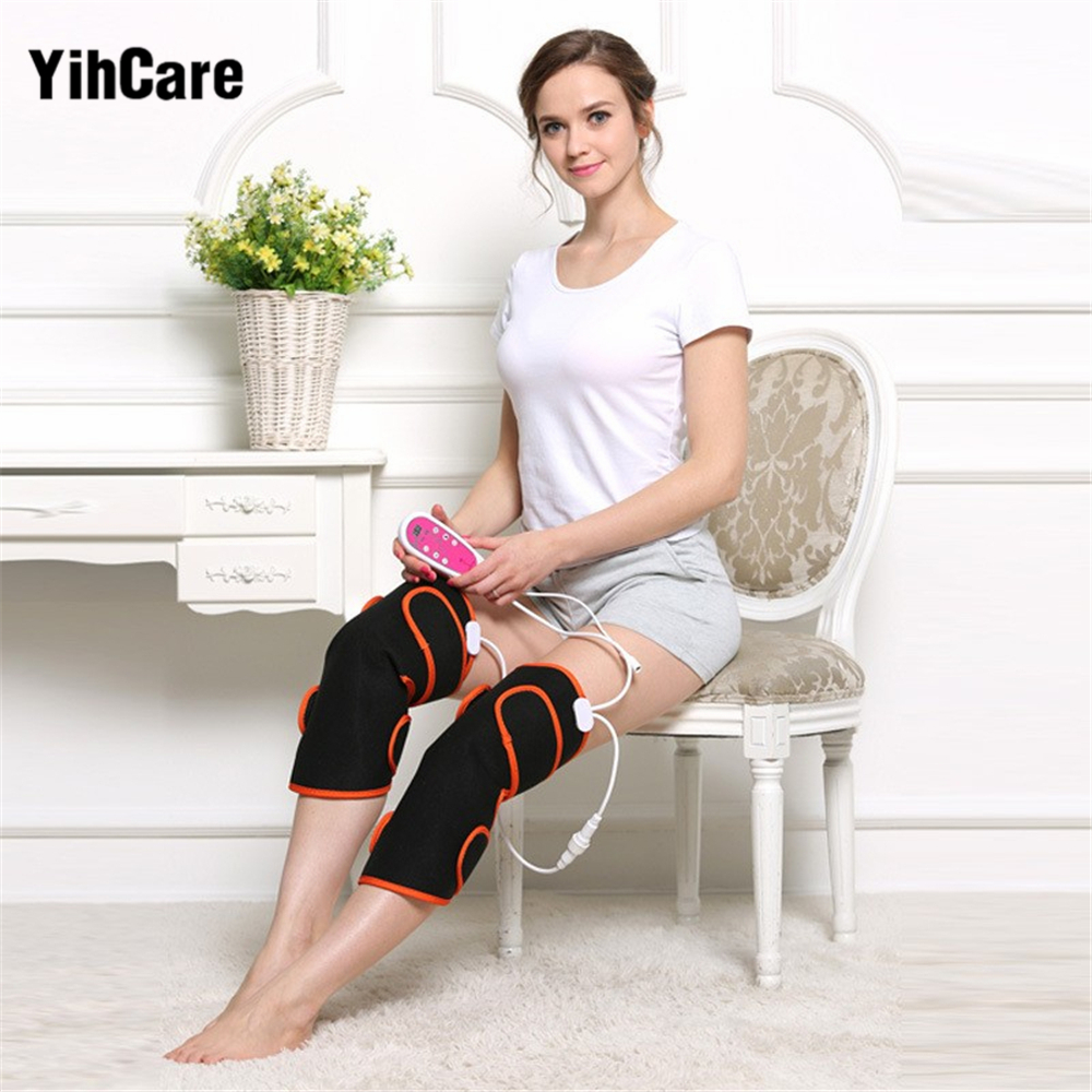 YihCare 1 Pair Heating Magnetic Therapy Arthritis Rheumatism Treatment Electric Foot Leg Massager Heating Joint Care Knee Warm hanriver health care electric heating knee and leg pads electrical heating therapy knee arthritis rheumatism ease the pain
