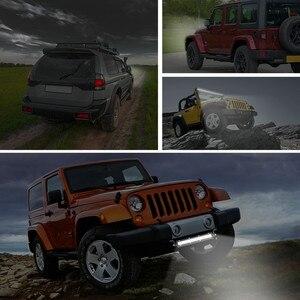 Image 5 - Luces Led Para coche, barra de luz LED recta delgada de una hilera, 8 pulgadas, 18W, 6LED, Jeep UTV, 4x4, lámparas LED Para barco y camión